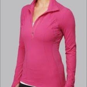 Lululemon Pink Half Zip Pullover size 10